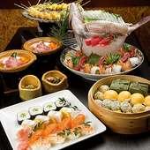 「旬家」 オリジナル和食フルコース 料理一例