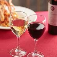 塩尻・松本・安曇野産のワインを赤・白各10種類ご用意しております。