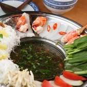 ベトナム風寄せ鍋で新鮮な海鮮と野菜をたっぷり召し上がれ!