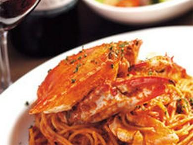 人気No.1メニュー、名物! 渡り蟹入りトマトソース