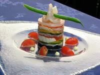 海の幸と色鮮やかなお野菜のミルフィーユ ガトー仕立て