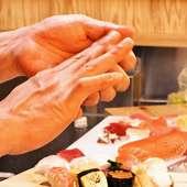 職人が握る本格寿司です。