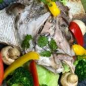 彩り豊かなお野菜と一緒に楽しめるカマ焼き
