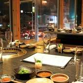 米子の夜景を眺めながら、美味しい和牛焼肉をどうぞ。