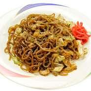 B級グルメでお馴染みの静岡グルメ!肉カスの旨味とコシのある麺が美味しい。