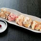 上質な部位を食べたい時にオススメ『和牛3点盛(1~2人用)』
