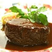 青森産牛ほほ肉の赤ワイン煮込み