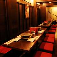 ハイアット・リージェンシー・大阪B1F テナントレストラン 全席掘りこたつ、ゆっくりとくつろいでいただけます。