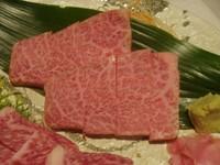 ロースの中でも最高の部分です、一頭の牛から4キロほどしか取れない肉の芸術品。