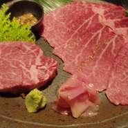 熟成された特上のフィレ肉の真ん中の芯の部分です。