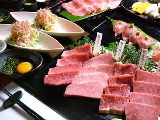 総合的にお肉の美味しさに触れられる『黒毛和牛のコース』