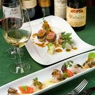3990円~アレコレとわがままに選べます。前菜、お肉料理、お魚料理の内容をそれぞれお好みで。