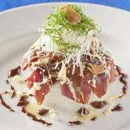 和の食材を洋風にアレンジ。口の中で、洋風に変わる味わいが楽しめる人気の一品です