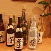 日本料理によく合う飲み物を、ご用意致しております。