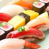職人が握る本格江戸前寿司が、なんと均一260円!