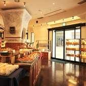 広々とした店内。今日はどのパンを食べようかと選ぶ楽しみも!