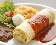 肉や野菜をトルティーヤで巻いたブリトー