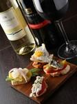 イベリコ豚のハムやチーズなど、前菜中心にワインなどを楽しみたい方にお勧めなコース