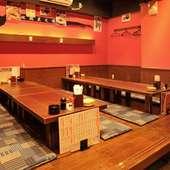座敷席は最大24名までOK、いろいろな宴会に利用できます