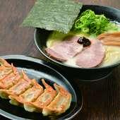 豚の旨味がじゅわっと溢れる『肉汁餃子』