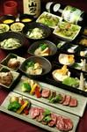 宮崎産牛のステーキがお召し上がり頂ける贅沢なコースです。飲み放題なしは4,500円