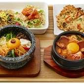 美容に敏感な女性に人気。ヘルシーな野菜たっぷり韓国料理