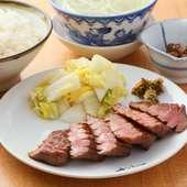 柔らかくもジューシーな食感『牛たん「極」焼定食(3枚6切)』