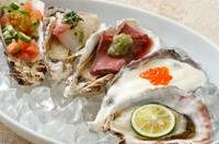 当店人気NO.1のウニと牡蠣醤油の焼き牡蠣です。