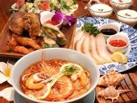 ご予約限定1ドリンク付き!! +1500円でランチコース飲み放題へ変更可能! お昼から冷たいビール・カクテルとアジアの料理をお楽しみいただけます。  詳しくはコースページへ!!