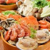 贅沢鍋<蟹・牡蠣の北海鍋コース/全7品>3時間飲み放題