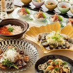 名物土鍋ご飯と肉と魚のダブルメインディッシュ『あおい(逸品)コース』