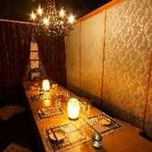 シャンデリア個室
