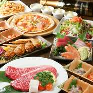 各種宴会コースは3000円~。MOON自慢のお造りから天麩羅付きのコースまでご予算シーンに合わせて多彩なコースをご用意。