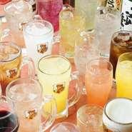 3杯以上飲まれる方は飲み放題が断然お得。2時間制。ラストオーダー90分1620円(税込)。