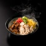 鹿児島名物 特製の濃厚スープをかけていただく鶏肉の混ぜご飯