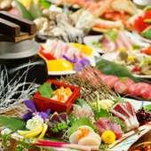 団体様用の宴会個室あり、、飲み放題付きプラン、食べ飲み放題