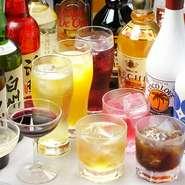 日本酒 洋酒 ソフトドリンク各種ご用意しております。飲み放題の時間も2時間、3時間選べます。