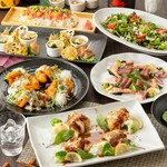 肉と魚が楽しめる『季節の創作』コース