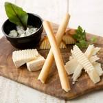 色彩、味、食感のバランスに優れた『本日のカルパッチョ 三種盛り合わせ』