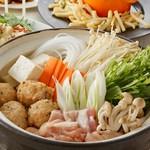 お鍋を囲んで宴会! とりづくし白湯鍋コース。