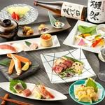 贅沢なこだわり料理の数々『和洋折衷コース』 プレミアム飲放に無料アップ可