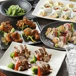 特選豚の葱味噌焼きと海鮮が楽しめる『旬の味覚コース』