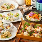 若鶏と海鮮のダブルメインディッシュ『旬の味わいコース』