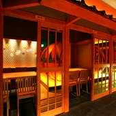 優雅な個室で季節の鍋を味わう。飲み放題付き宴会コース4400円~