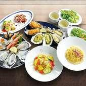 いろいろな調理法で牡蠣を堪能