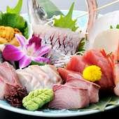 活きのよさが自慢の魚がし料理