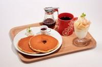 本日のミニパフェ ミルクパンケーキプレーン コーヒーor季節の紅茶(ホット/アイス) ※店内の黒板メニューをご覧ください。