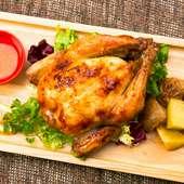 『<当店TOP1>ひな鶏のロティサリーチキン ソルト&ガーリック』(ホール/ハーフ)