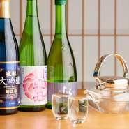 和食料理と相性抜群の日本酒は、菊正宗酒造の日本酒をメインに、全国から取り寄せられた銘酒が揃っています。和食との相性も良く、料理の味わいをさらに引き立ててくれることでしょう。