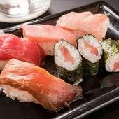 心ゆくまで満喫できる『まぐろ寿司食べ放題』